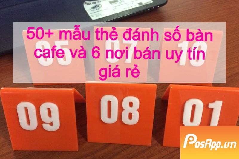 thẻ bàn màu cam
