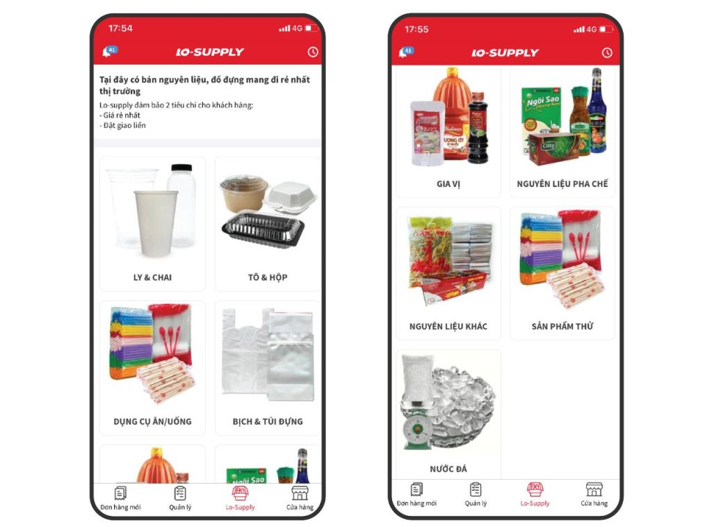 Danh mục sản phẩm lo supply