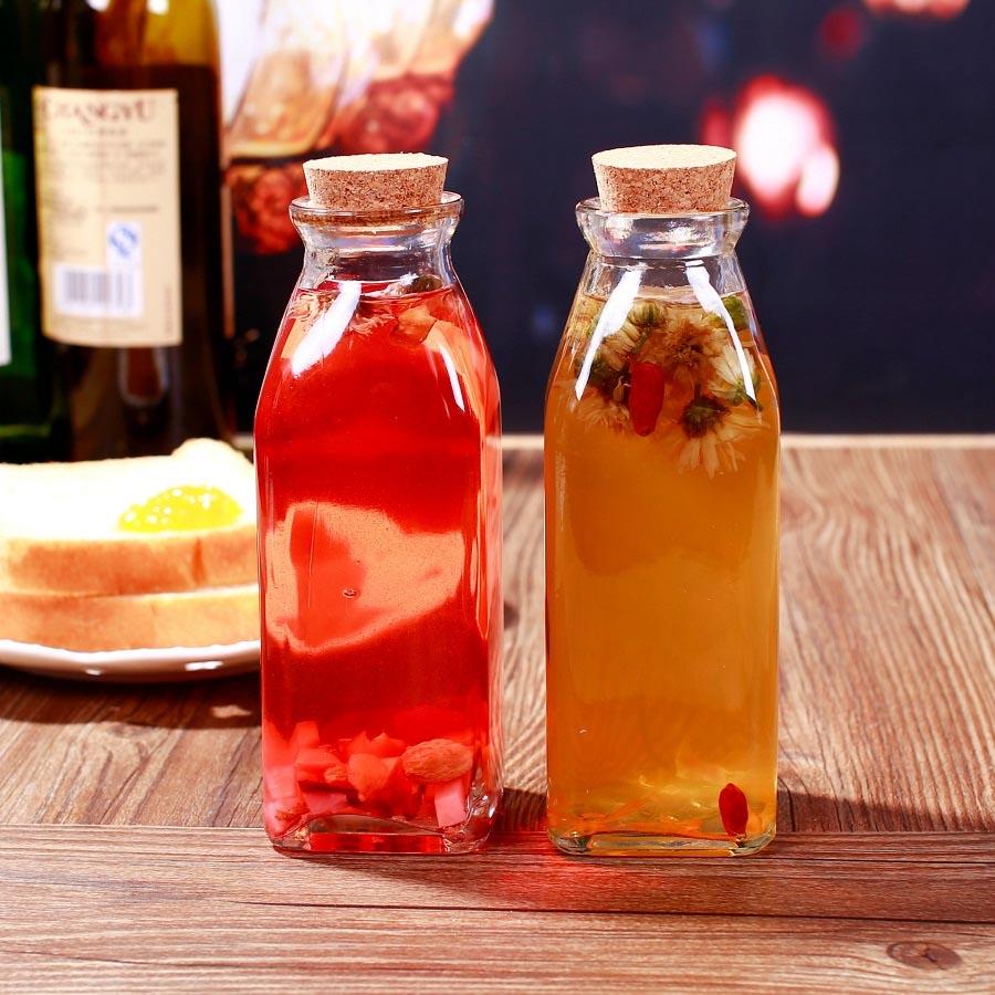 chai thủy tinh nước ép sinh tố