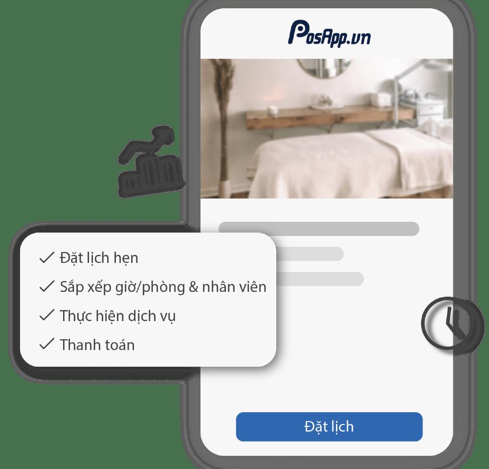 app đặt lịch cho spa salon - thẩm mỹ viện