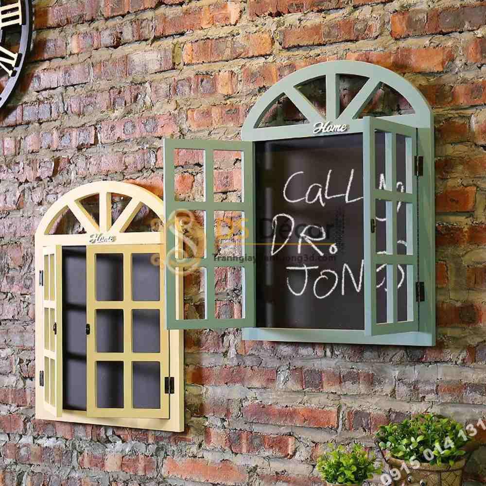 cửa sổ trang trí quán cafe đơn giản