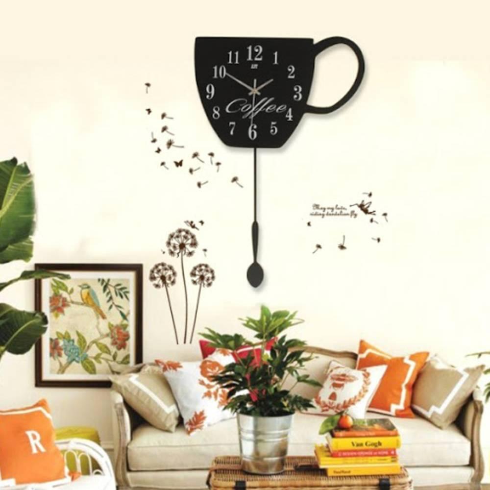 đồng hồ trang trí quán cafe dễ thương