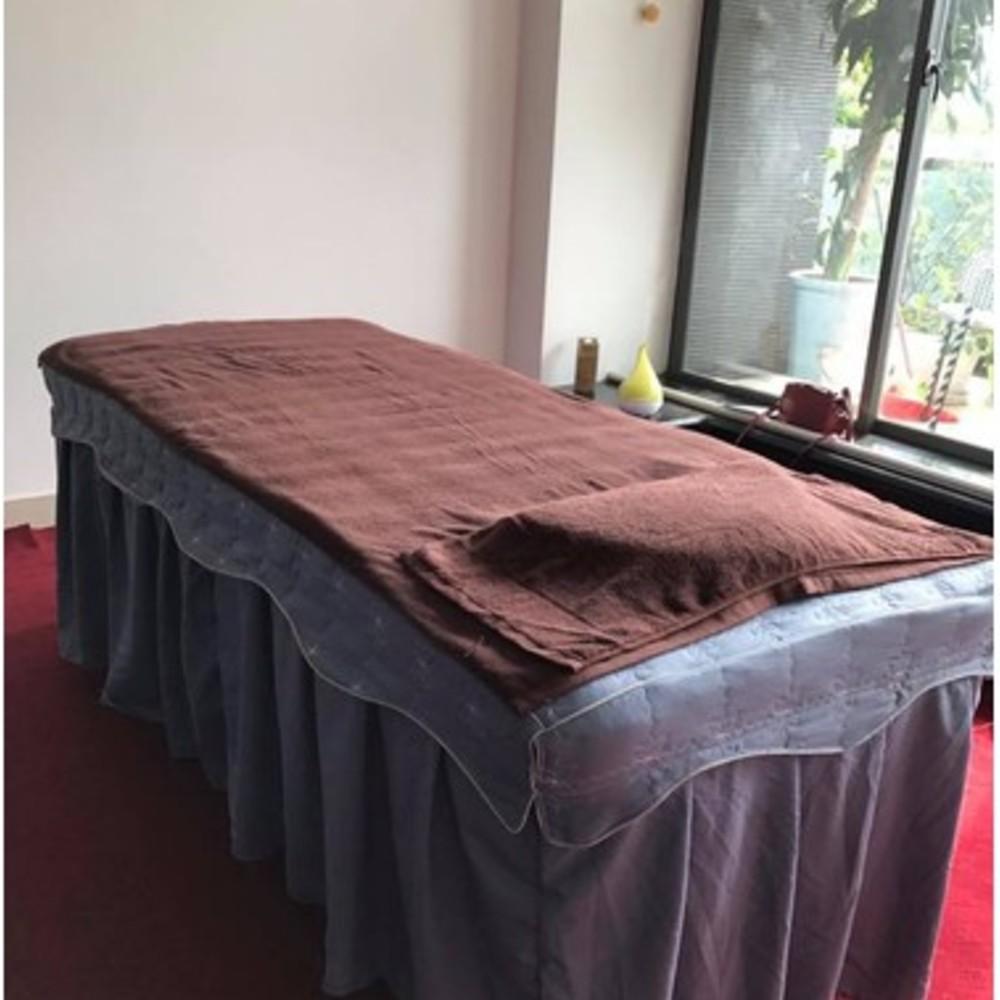 ga giường spa màu nâu