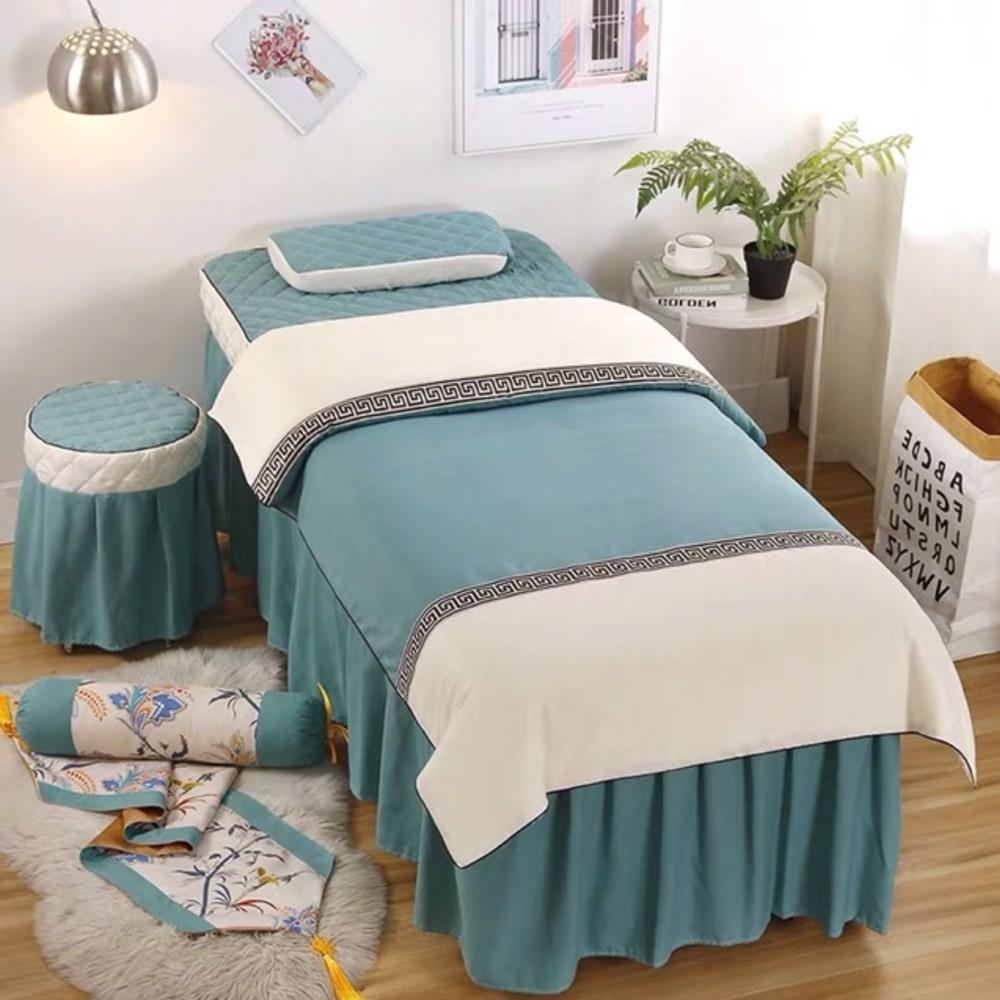 ga giường spa xanh