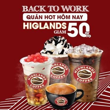 khuyến mãi với highland coffee