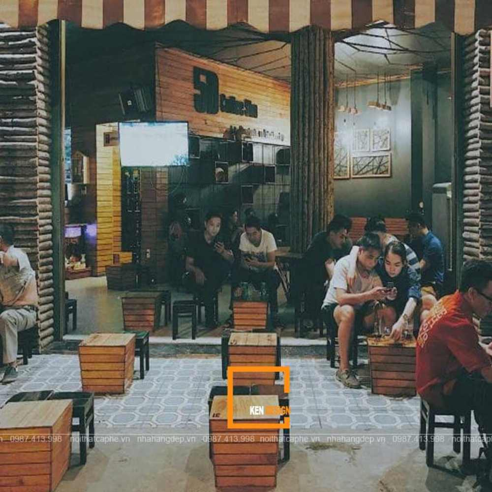 thiết kế quán  cafe cóc vỉa hè đẹp