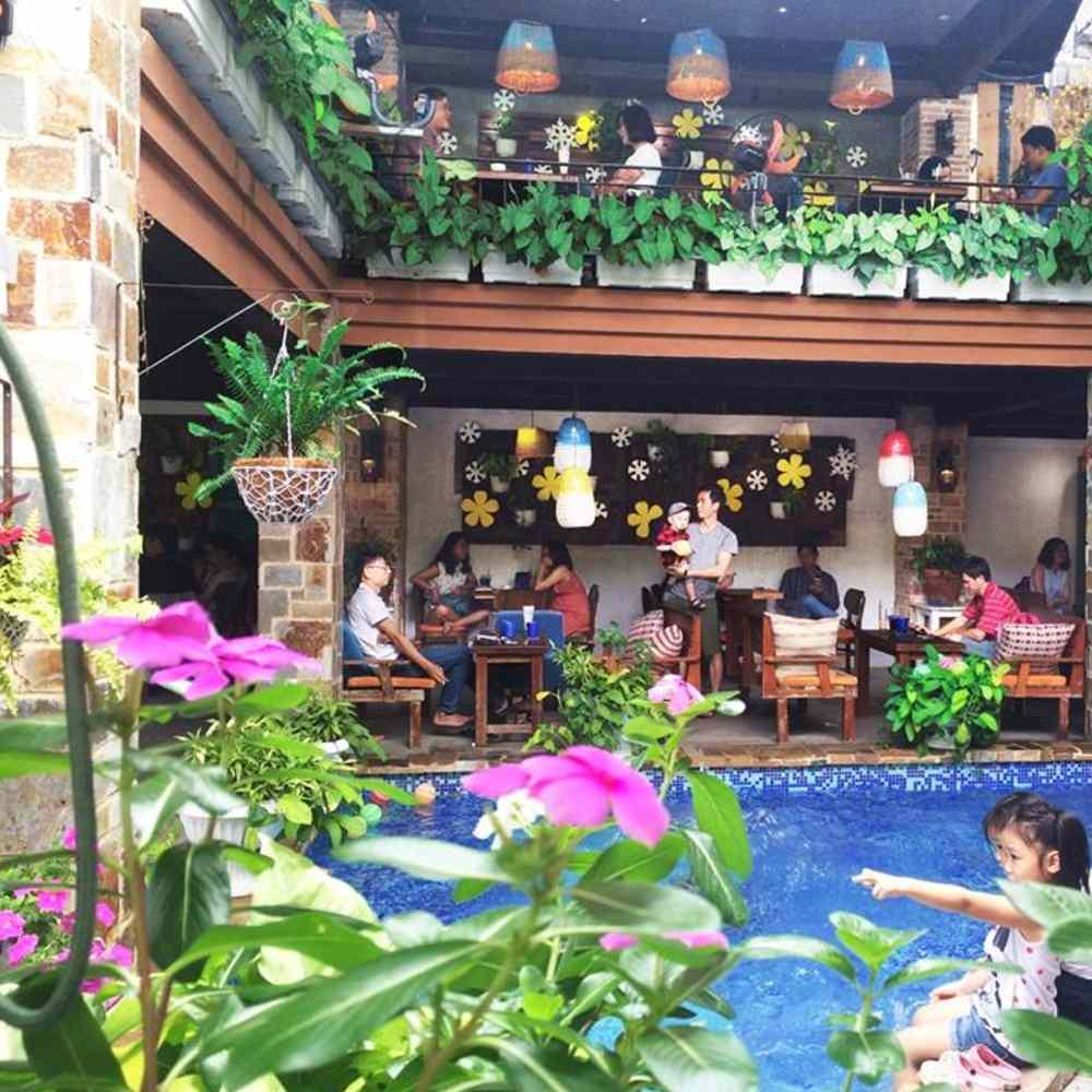 thiết kế quán cafe taị các khu vui chơi giải trí phổ biến
