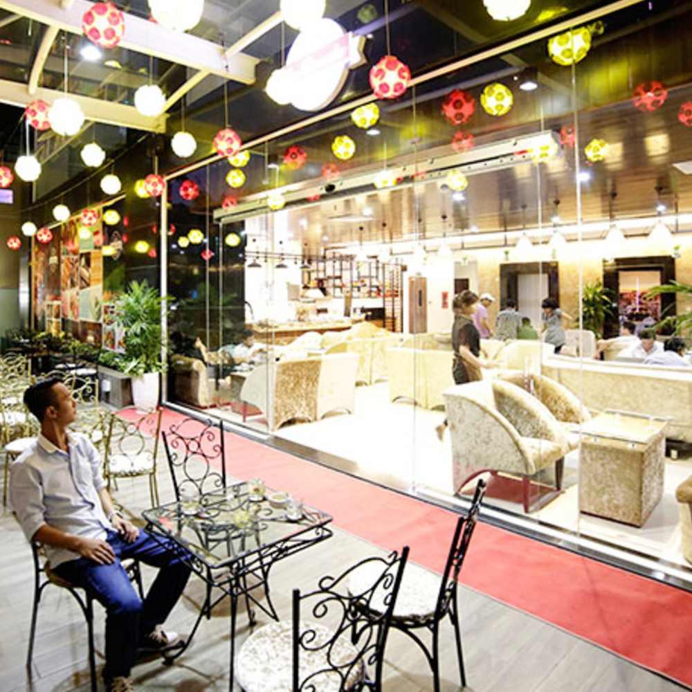 thiết kế quán cafe taị các khu vui chơi giải trí cơ bản