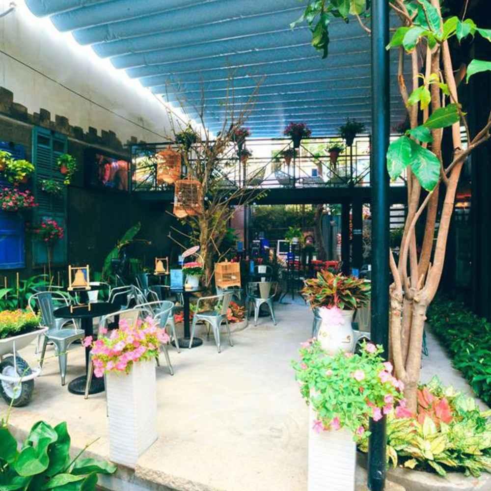 thiết kế quán cafe taị các khu vui chơi giải trí tiện lợi