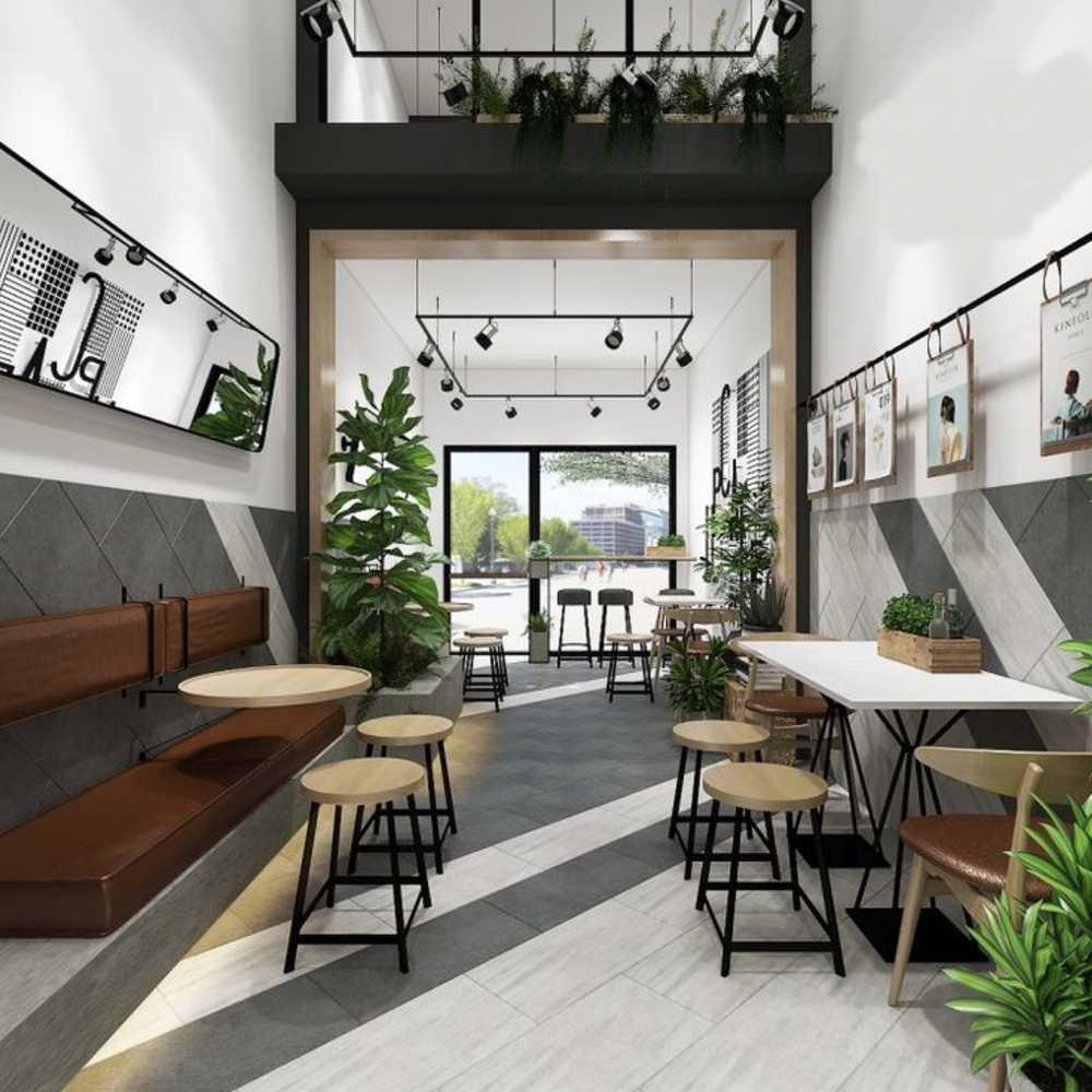 thiết kế quán cafe nhà ống cơ bản