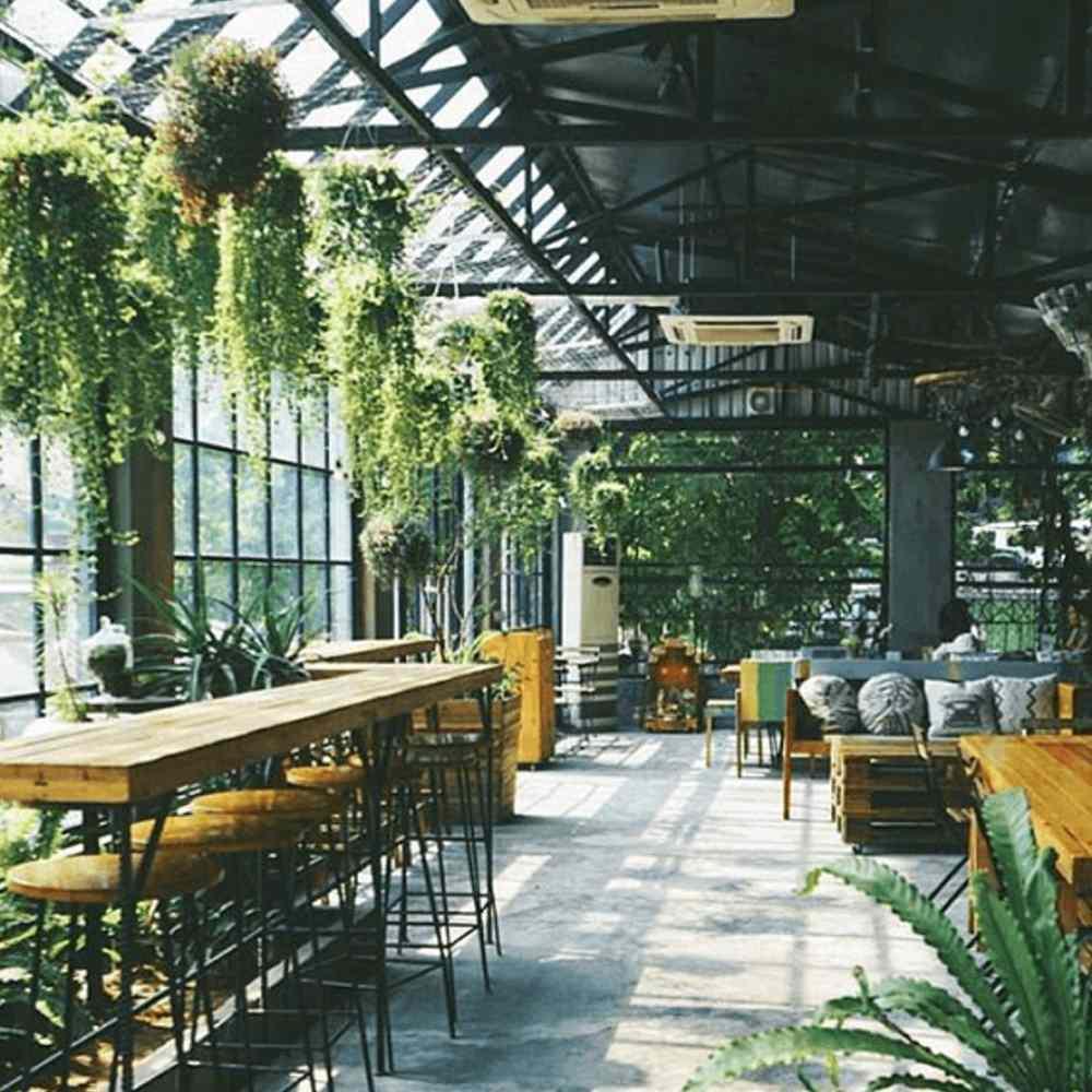 thiết kế quán cafe có không gian mở thoáng mát