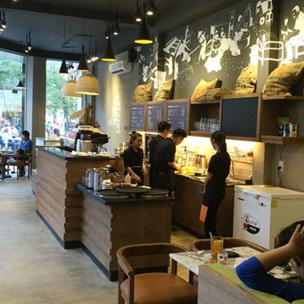thiết kế quán cafe theo phong cách công nghiệp cơ bản