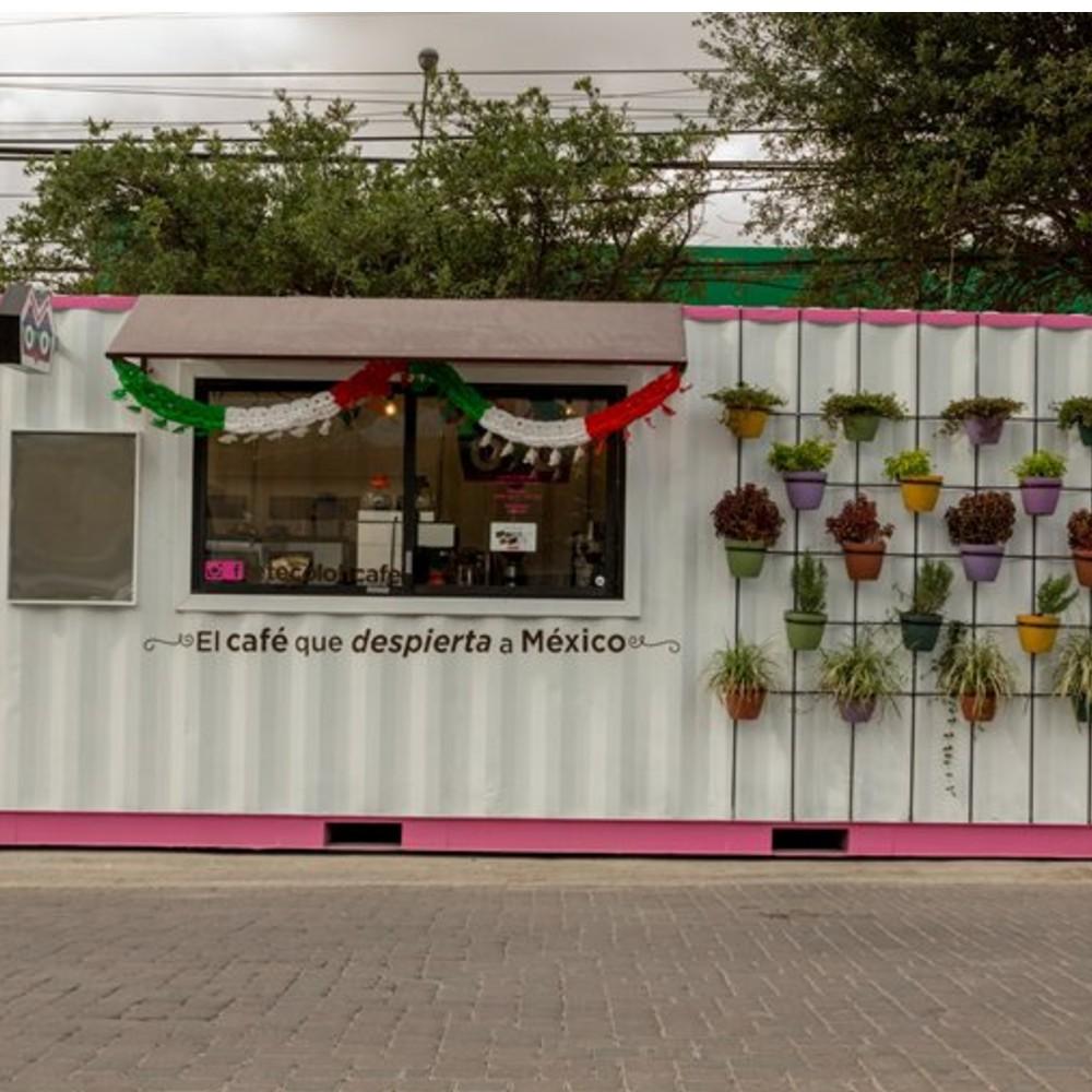 thiết kế quán cafe container dễ thương