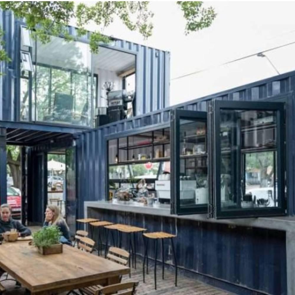 thiết kế quán cafe container sang trọng