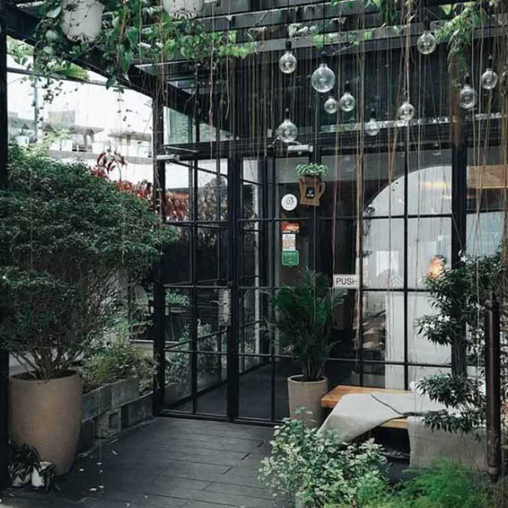 thiết kế quán cafe khung thép đẹp