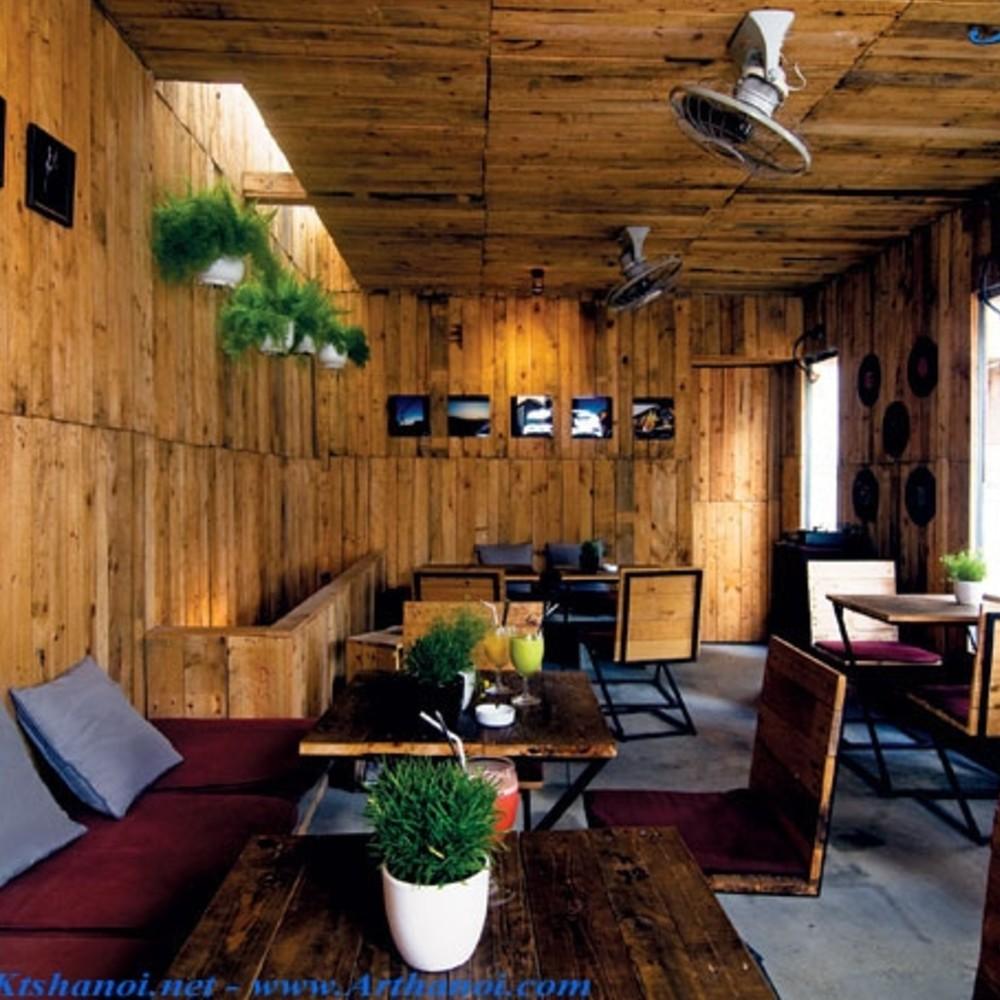 thiết kế quán cafe mộc đẹp