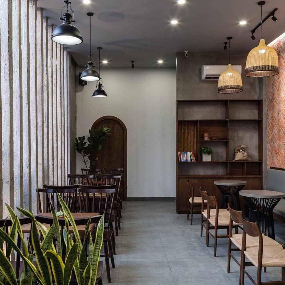thiết kế quán cafe nhỏ giá rẻ tiện lợi