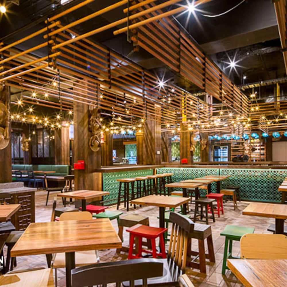 thiết kế quán cafe phong cách châu âu rực rỡ
