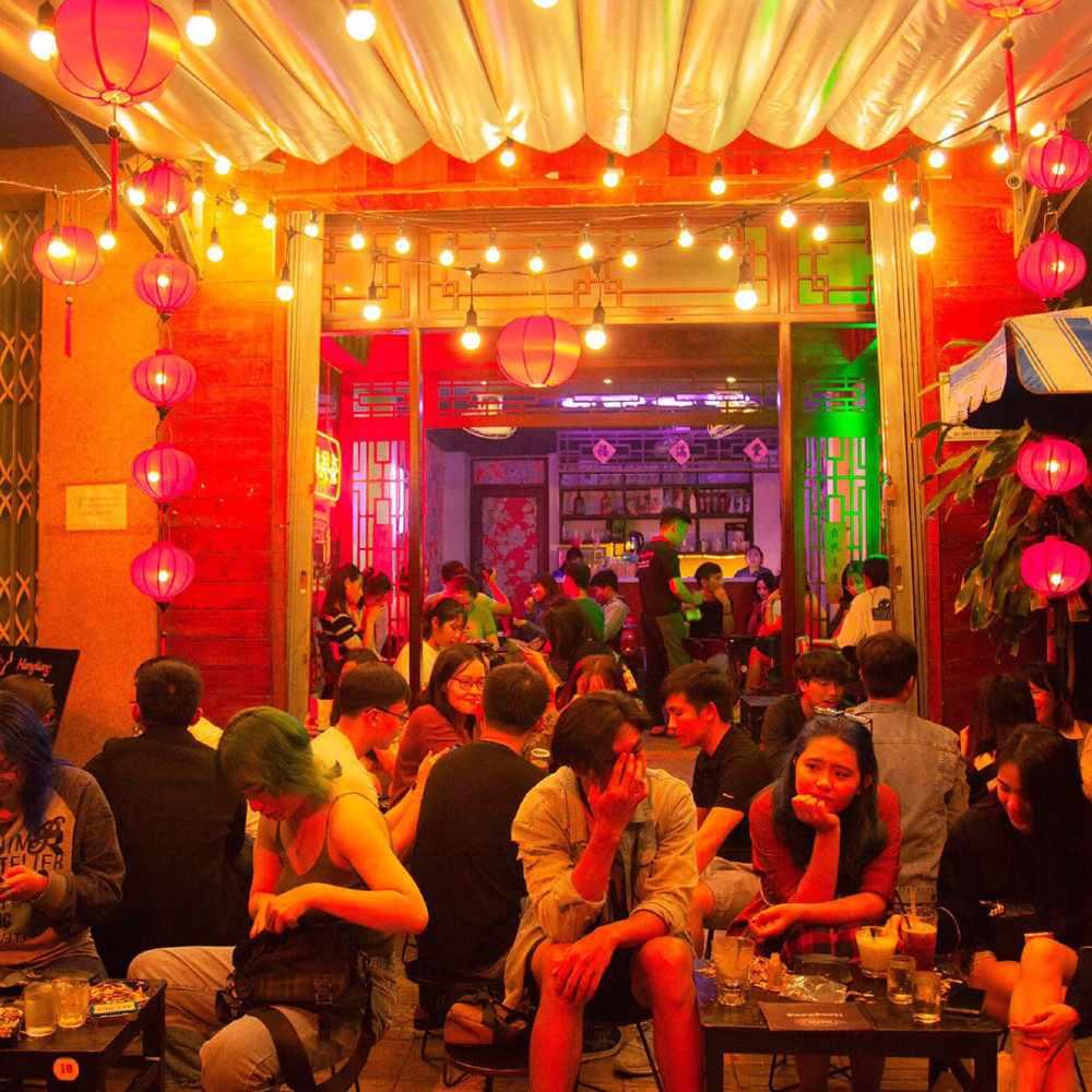thiết kế quán cafe phong hongkong trendy