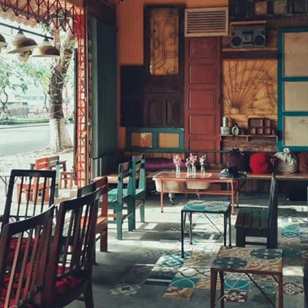 thiết kế quán cafe phong cách vintage khác lạ