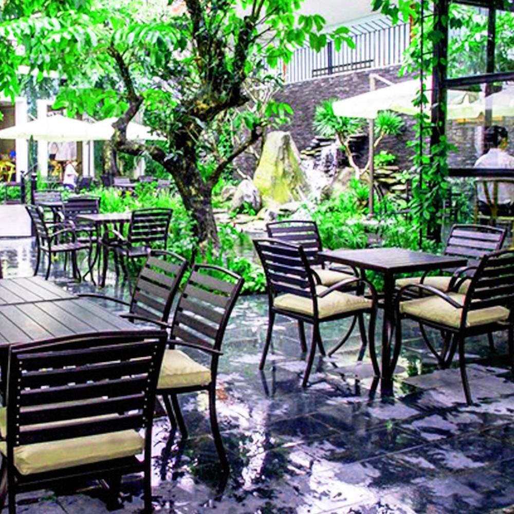 thiết kế quán cafe sân vườn cơ bản