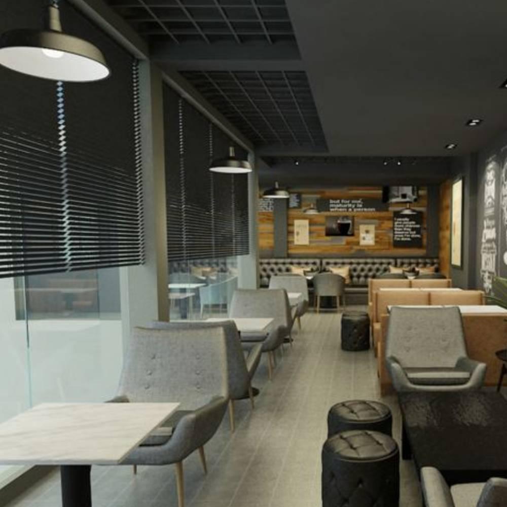 thiết kế quán cafe tại khu dân cư