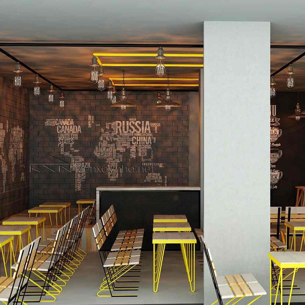 quán cafe thiết kế bằng tre