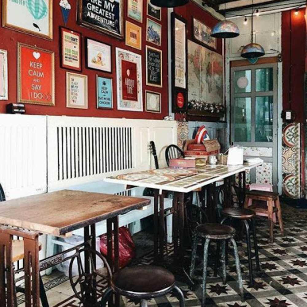 thiết kế quán cafe theo phong cách retro cơ bản