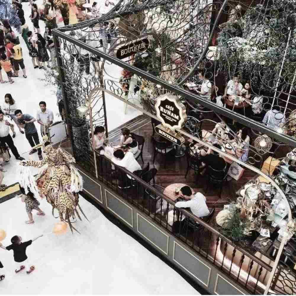 thiết kế quán cafe tại trung tâm thương mại phổ biến