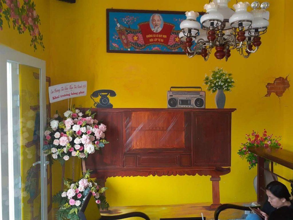 trang trí của quán trà chanh