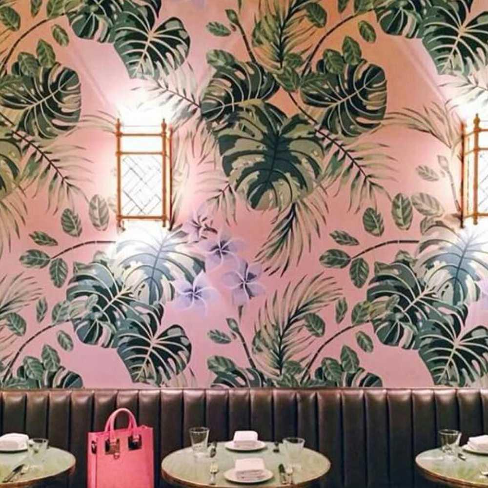 tranh vẽ tường trang trí quán cafe màu sắc