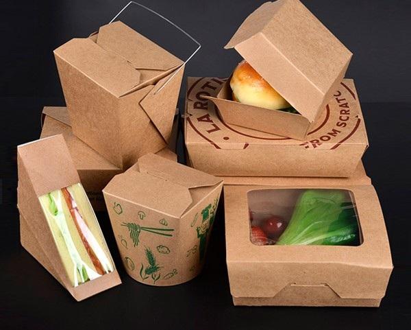 hộp giấy đựng thức ăn màu sắc