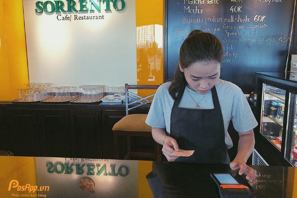 máy tính tiền cầm tay nhà hàng sorrento