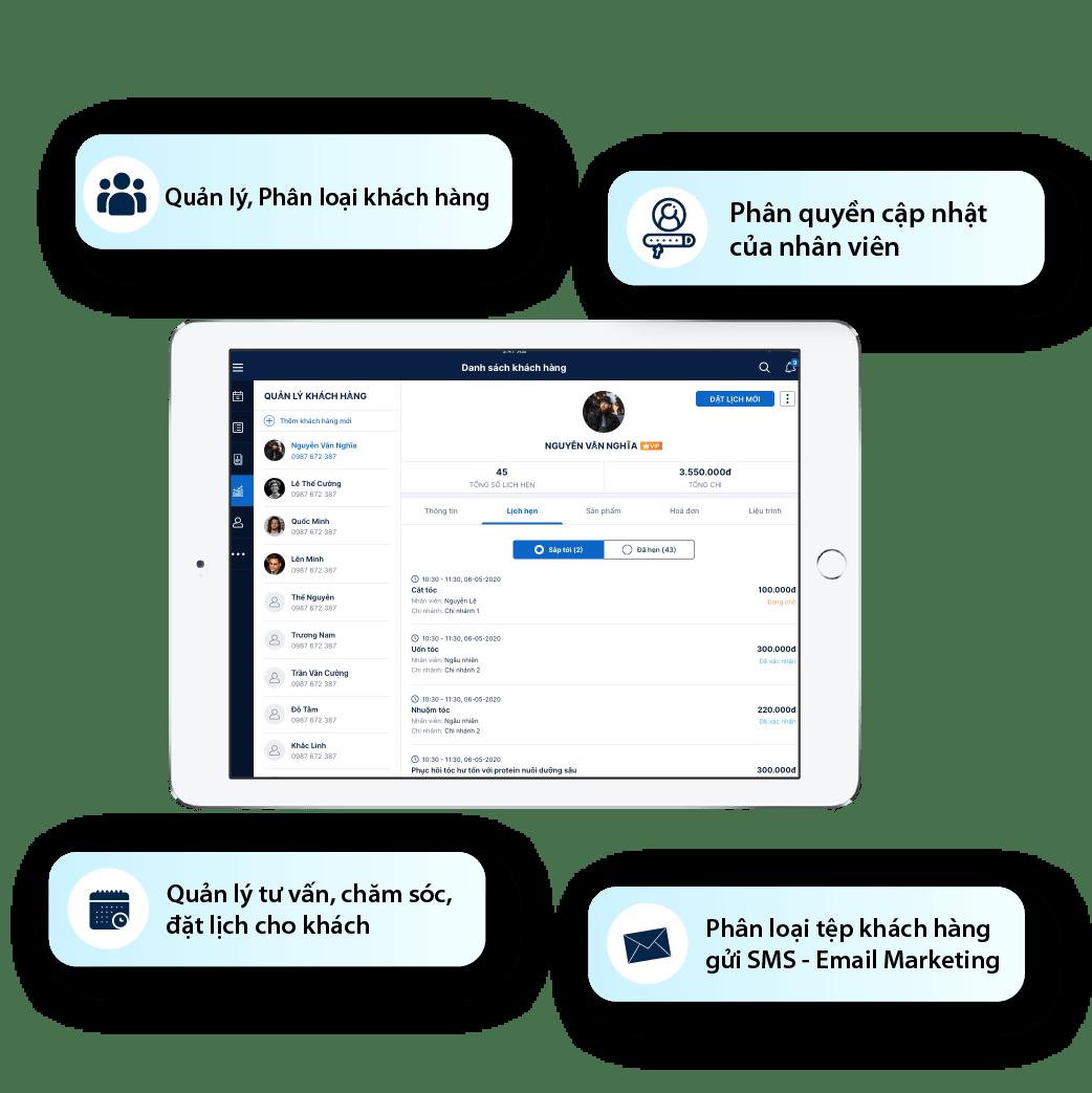 phần mềm chăm sóc khách hàng crm spa