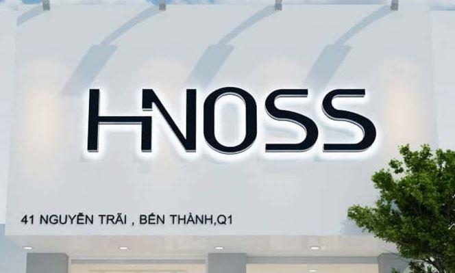 Bảng hiệu shop thời trang nữ Hnoss