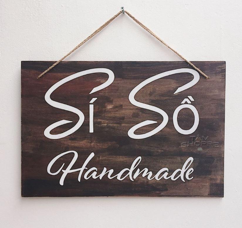 bảng hiệu shop đồ si handmade