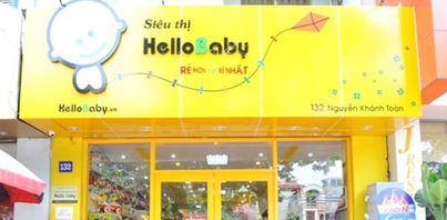 bảng hiệu shop thời rang mẹ và bé Hello baby