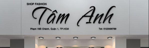 Bảng hiệu shop thời trang Tâm Anh