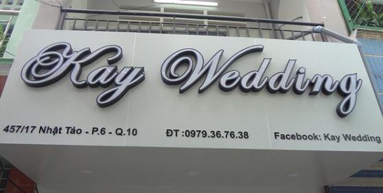 Bảng hiệu shop thời trang váy cưới