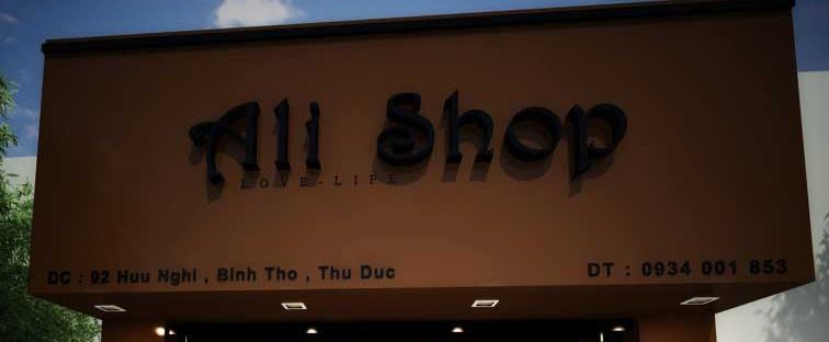Bảng hiệu thời trang nam All shop