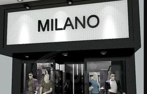 Bảng hiệu thời trang nam Milano
