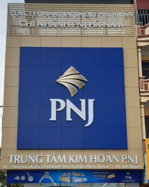 bảng hiệu trung tâm Kim Hoàn PNJ