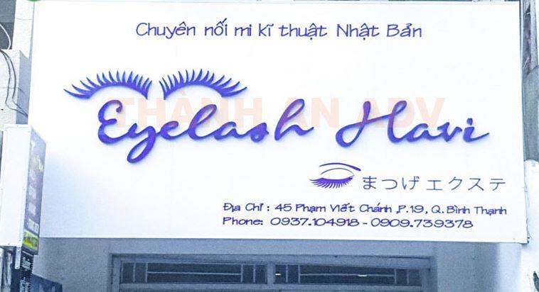 Mẫu bảng hiệu tiệm Nối mi - Eyelash đẹp