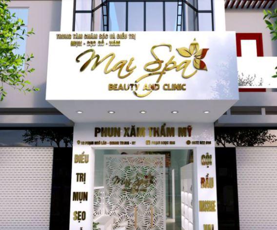mẫu tiệm nail spa