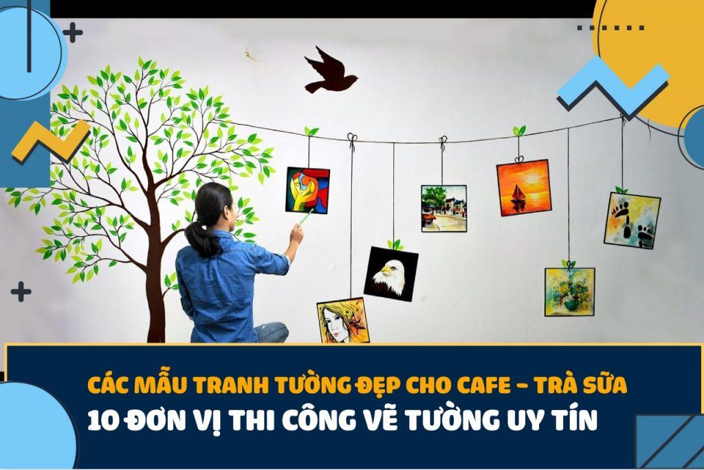 tranh vẽ tường cafe trà sữa