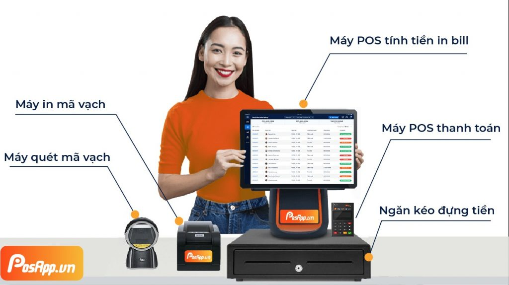 combo máy tính tiền cho cửa hàng bán lẻ