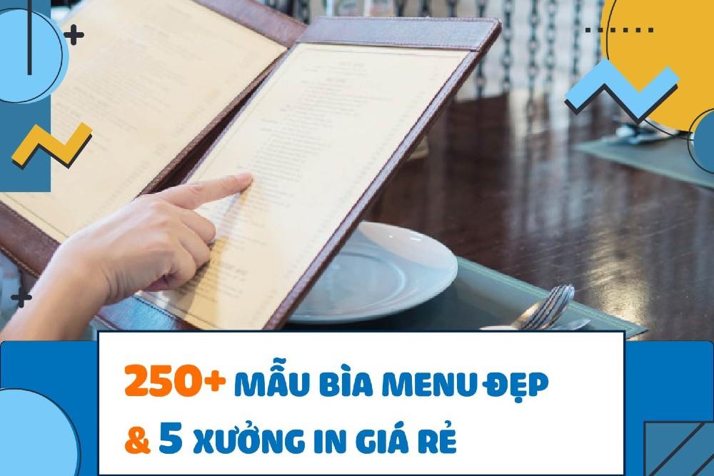 mẫu bìa menu