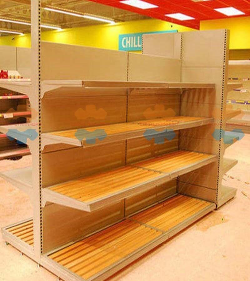 kệ siêu thị gỗ 2