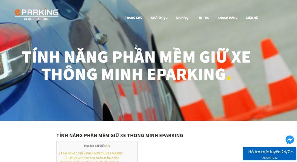 Máy giữ xe thông minh Eparking