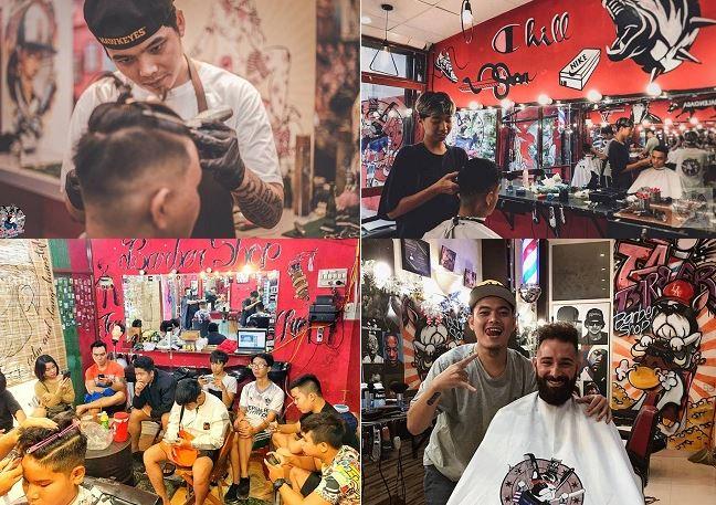 Học cắt tóc nam tại Salon Tai Barbier